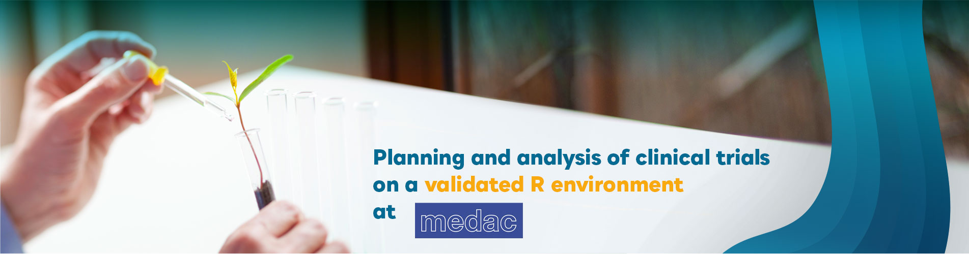 Planning and Analysis of Clinical Trials on a Validated R Environment